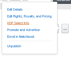 KDP Other Actions Button